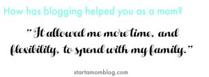 how has blogging helped you as a mom quote 2