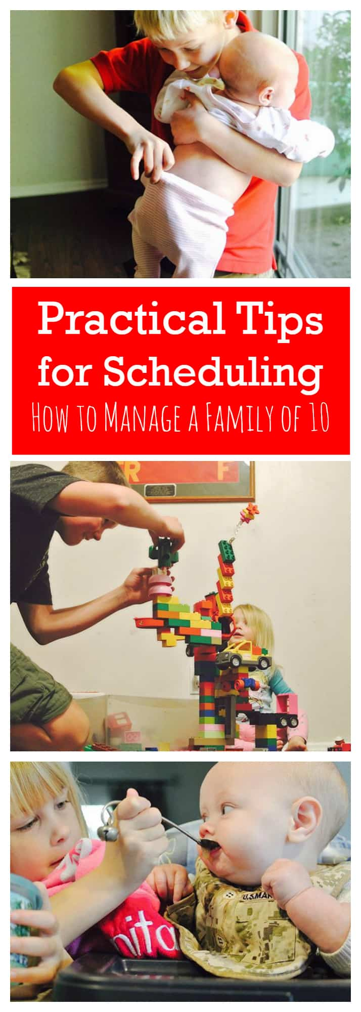 Practical Tips for Scheduling How to Manage a Family of 10 www.startamomblog.com