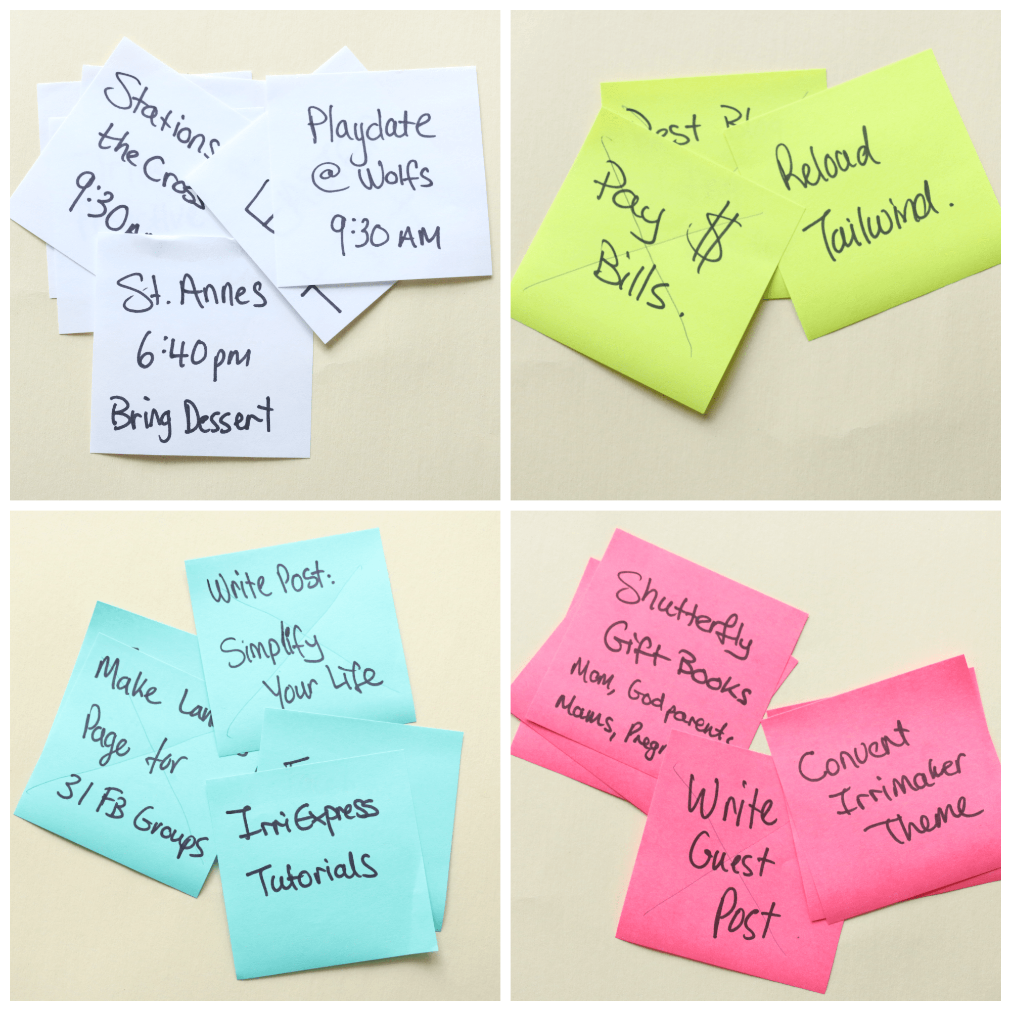 Super Simple Weekly Schedule to Get Stuff Done Post-it Notes Organize and Schedule my Life with Post it notes - Super Simple Hack! 2
