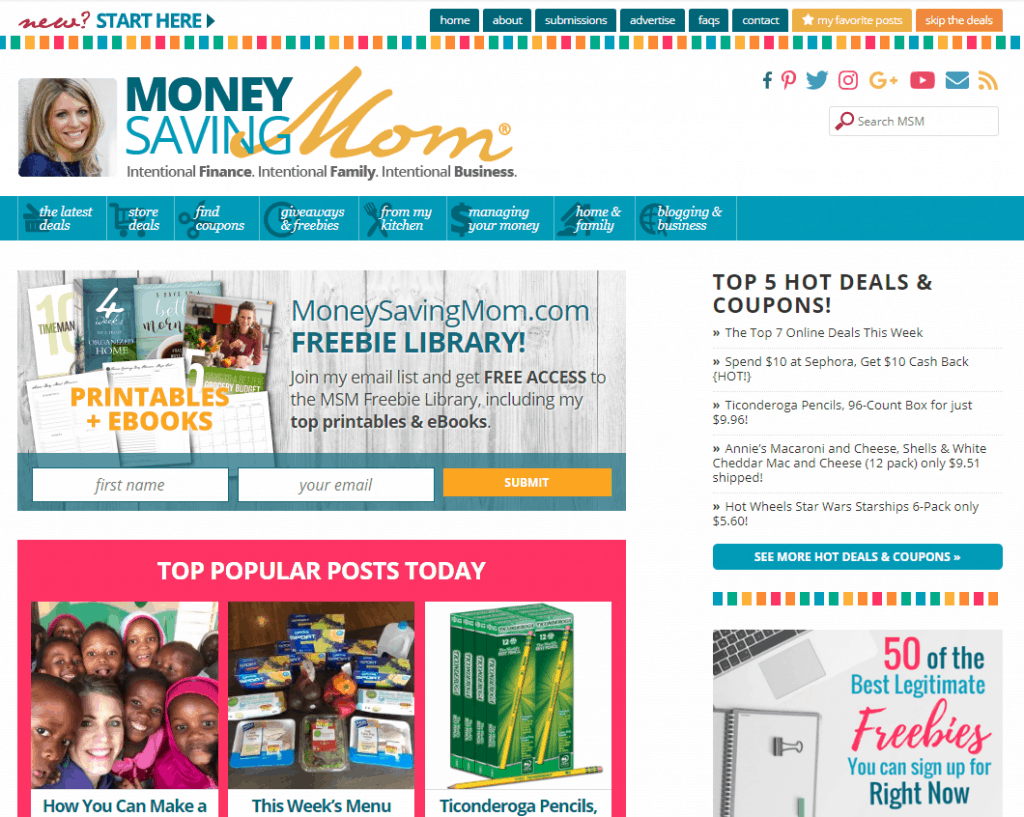 blogging for moms - money saving mom