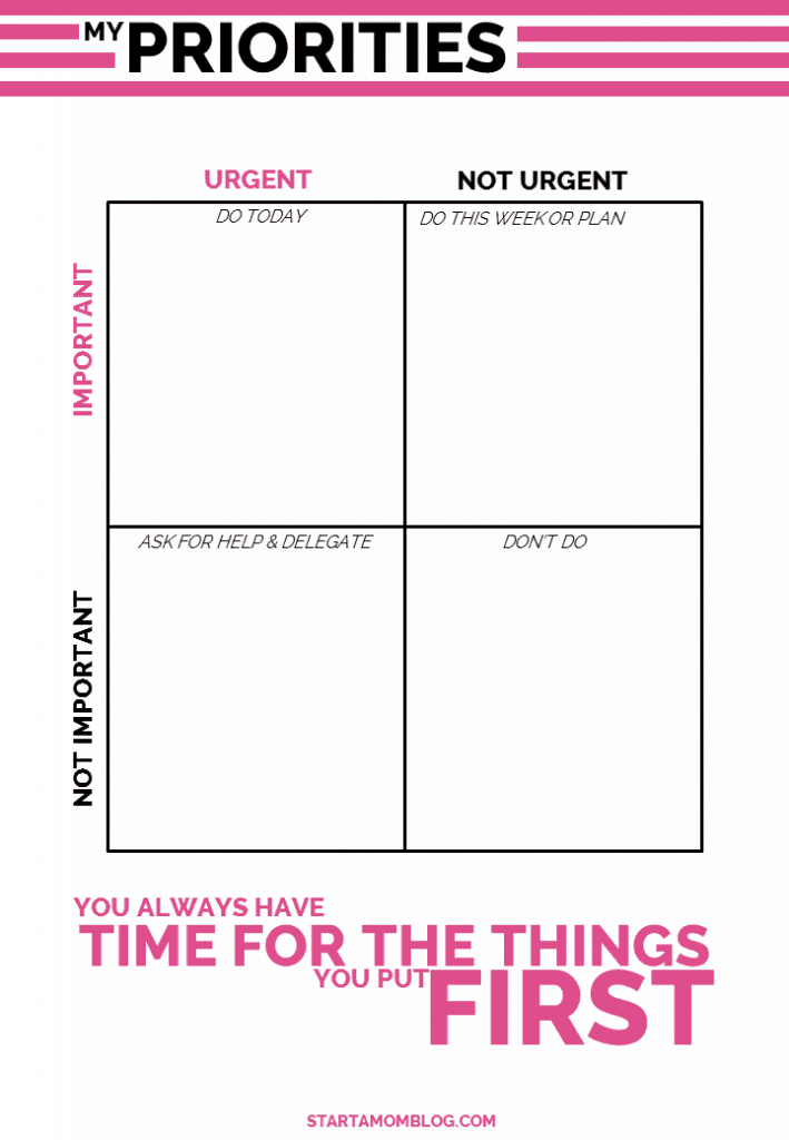 How to set your priorities