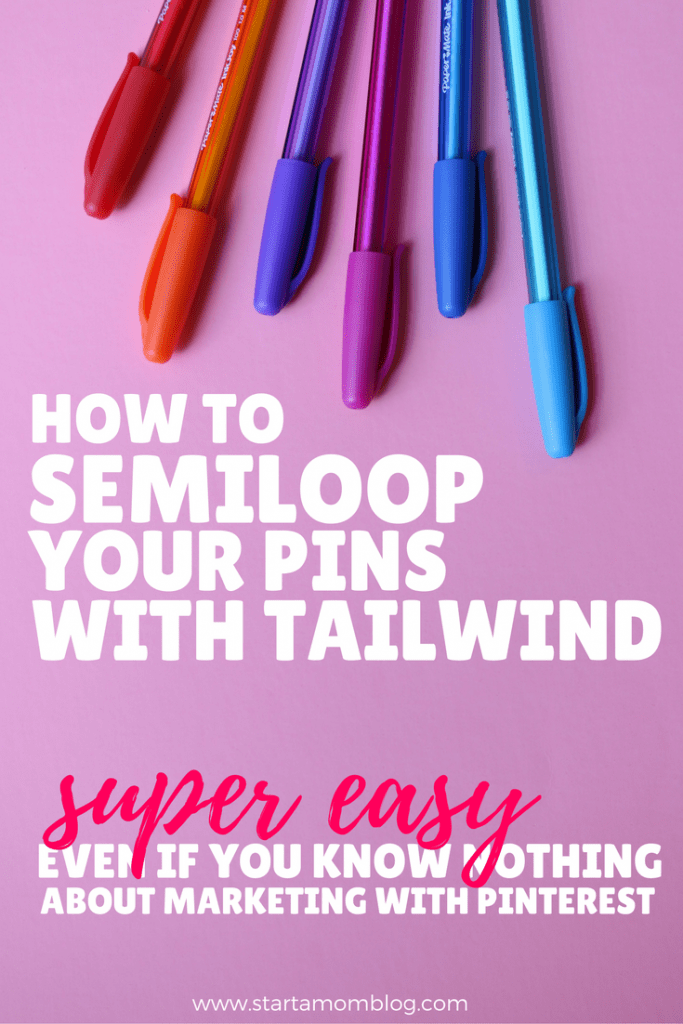 How to semiloop your pins with Tailwind even if you know nothing about Pinterest marketing. How to get traffic to your blog using Pinterest.