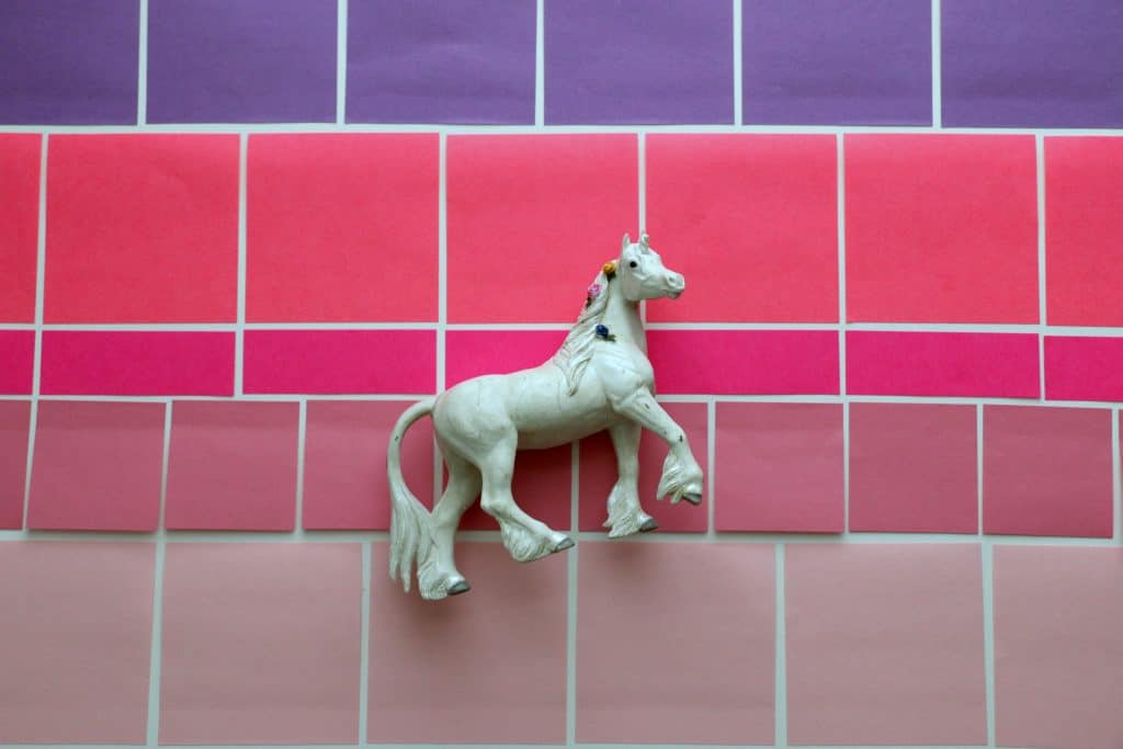 white-horse-pink-post-it-notes