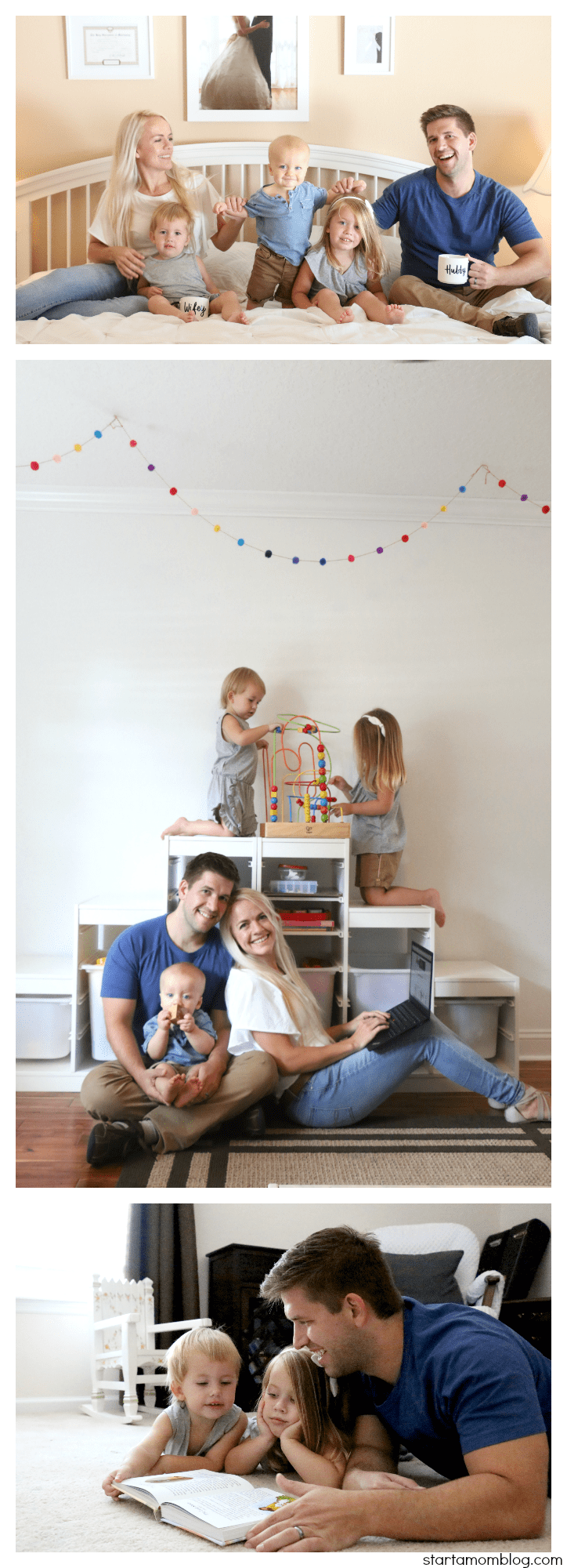 Family of Five Photo Ideas Playroom Ideas Family Photoshoot Coffee #photoshoot #family #pictures #coffee