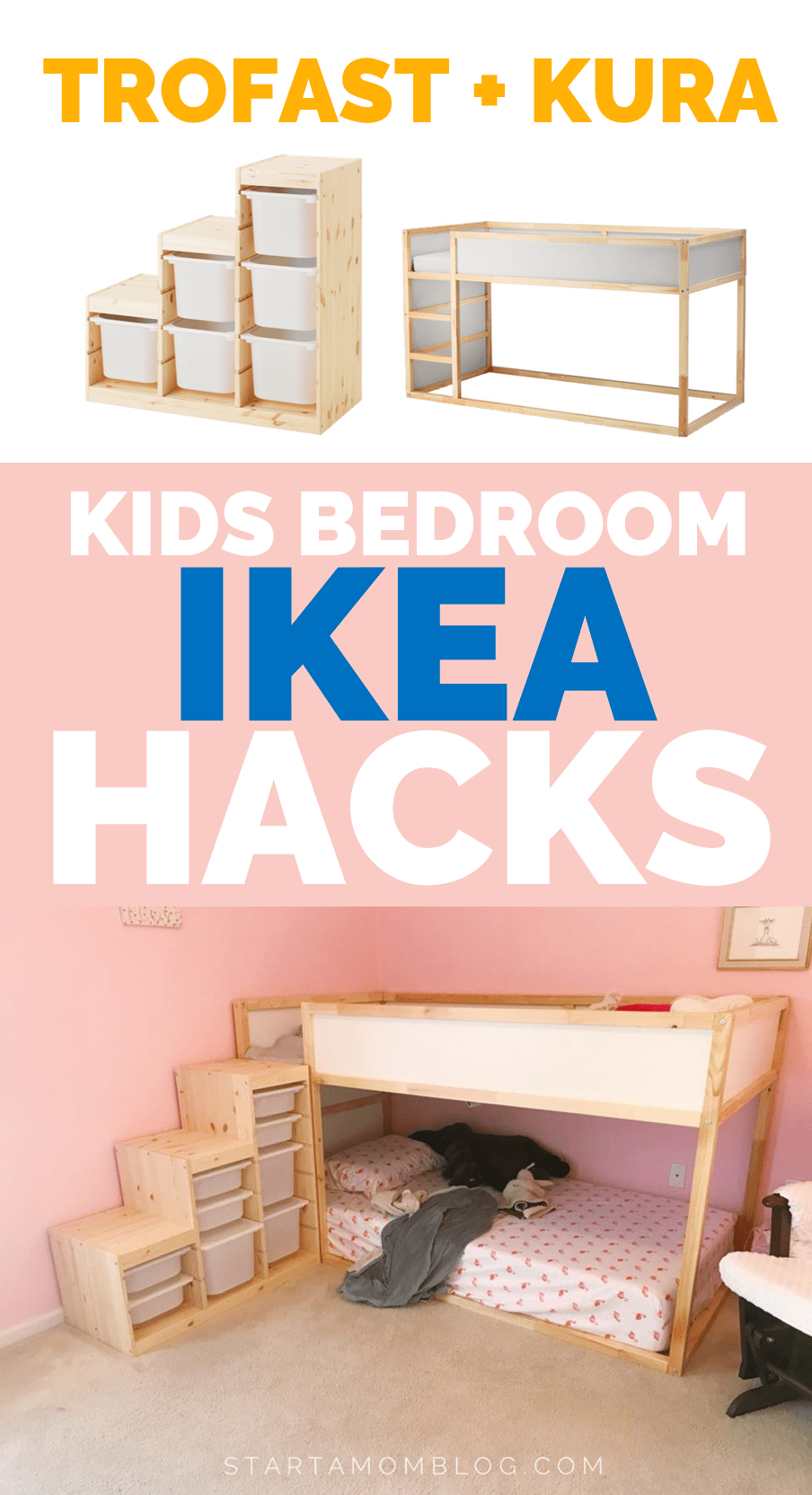 IKEA BEDROOM HACKS FOR KIDS TROFAST AND KURA