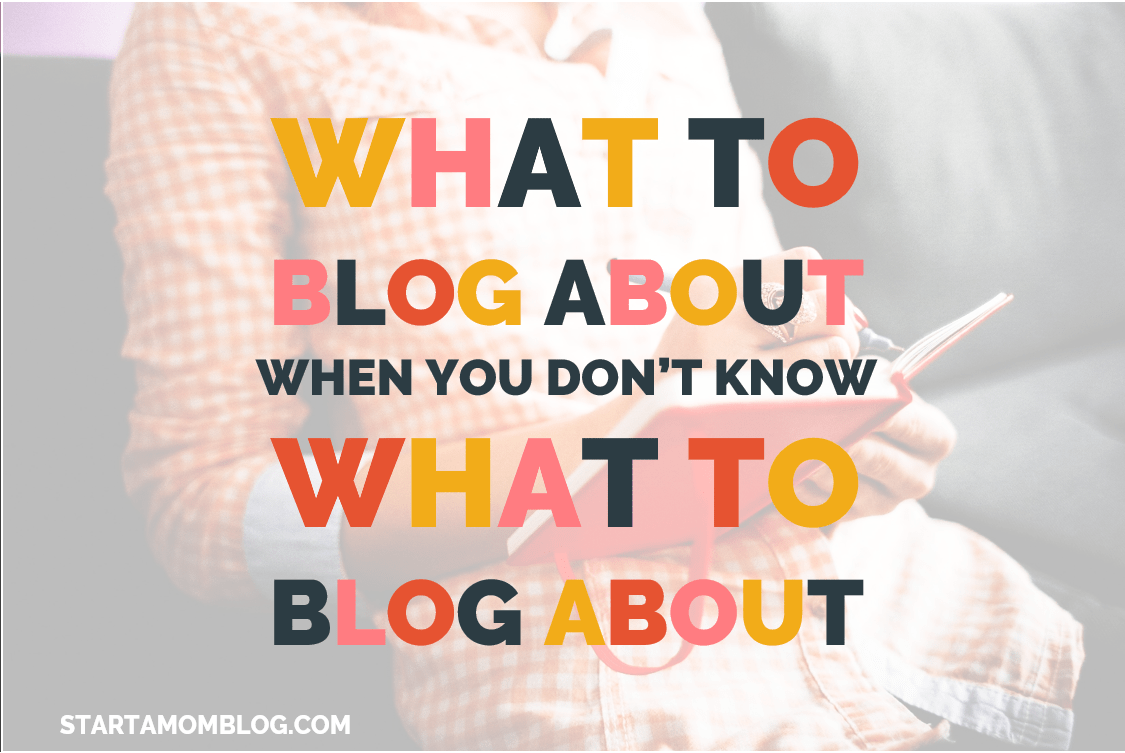 What to blog about when you don't know what to blog about
