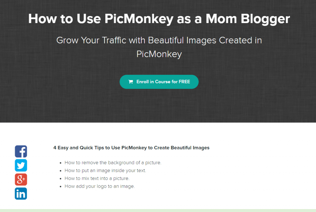Free PicMonkey Course for Mom Bloggers
