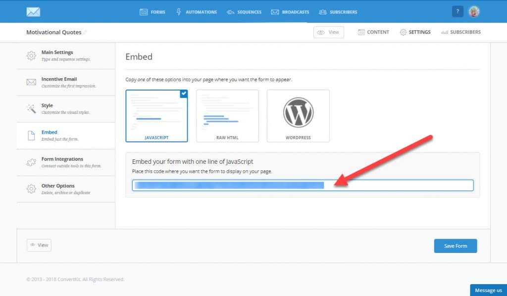 How to create printables and connect to Convertkit embed code