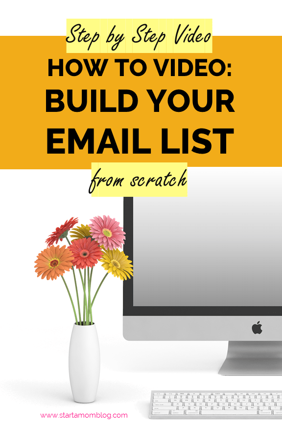 How to build an email list from scratch and for beginners #emaillist