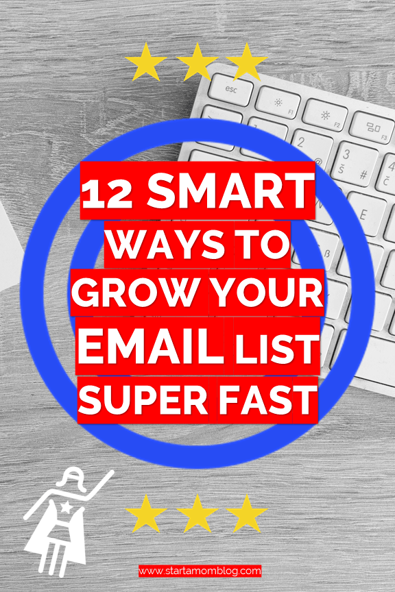 Grow an email list quickly #bloggingtips #emaillist #listgrowth