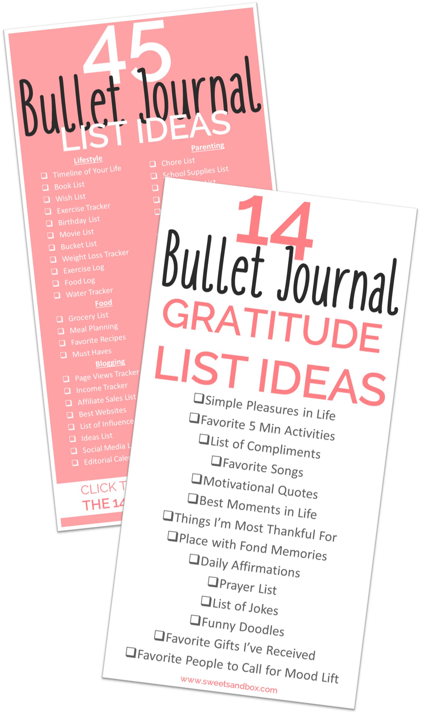 45 Bullet Journal Lists Ideas To Keep You Organized