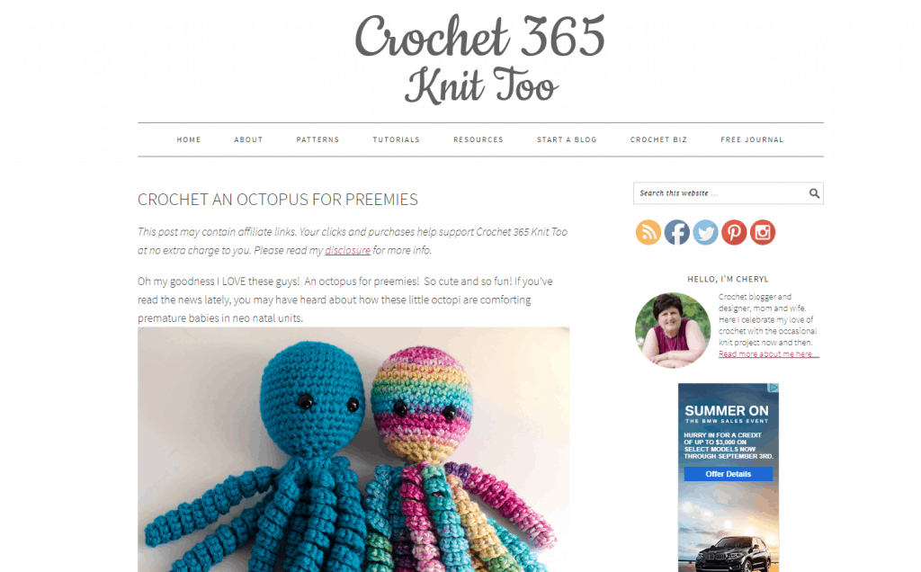 crochet blogging idea that make money