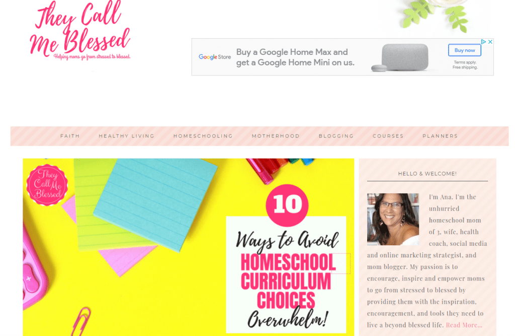 homesschool christian god blog blogging idea that make money