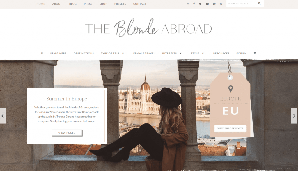 what is a lifestyle blog - example the blonde abroad