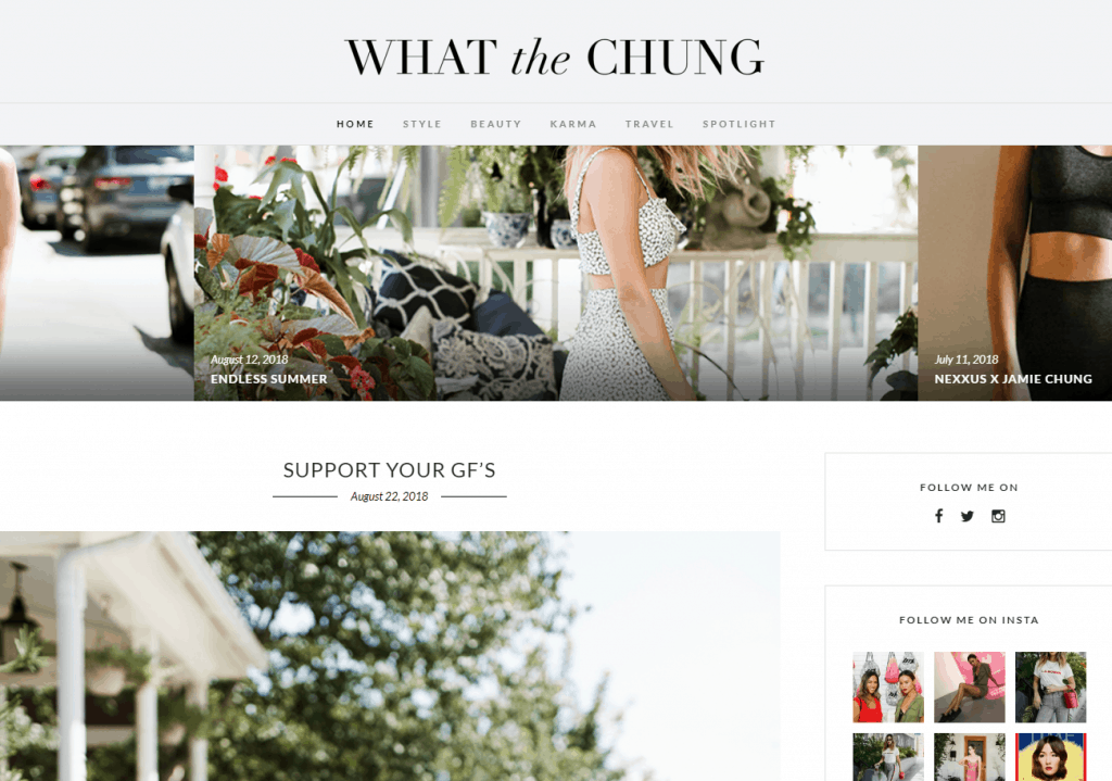 what is a lifestyle blog - example what the chung