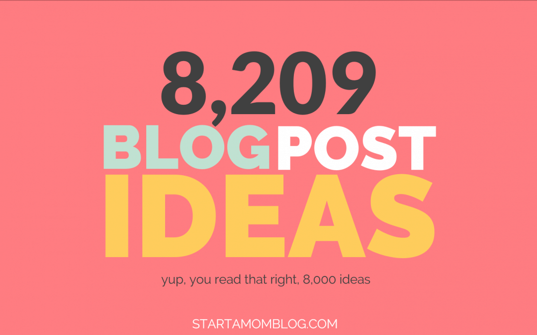8,209 Popular Blog Post Ideas for INSANE Traffic! [FREE PDF]