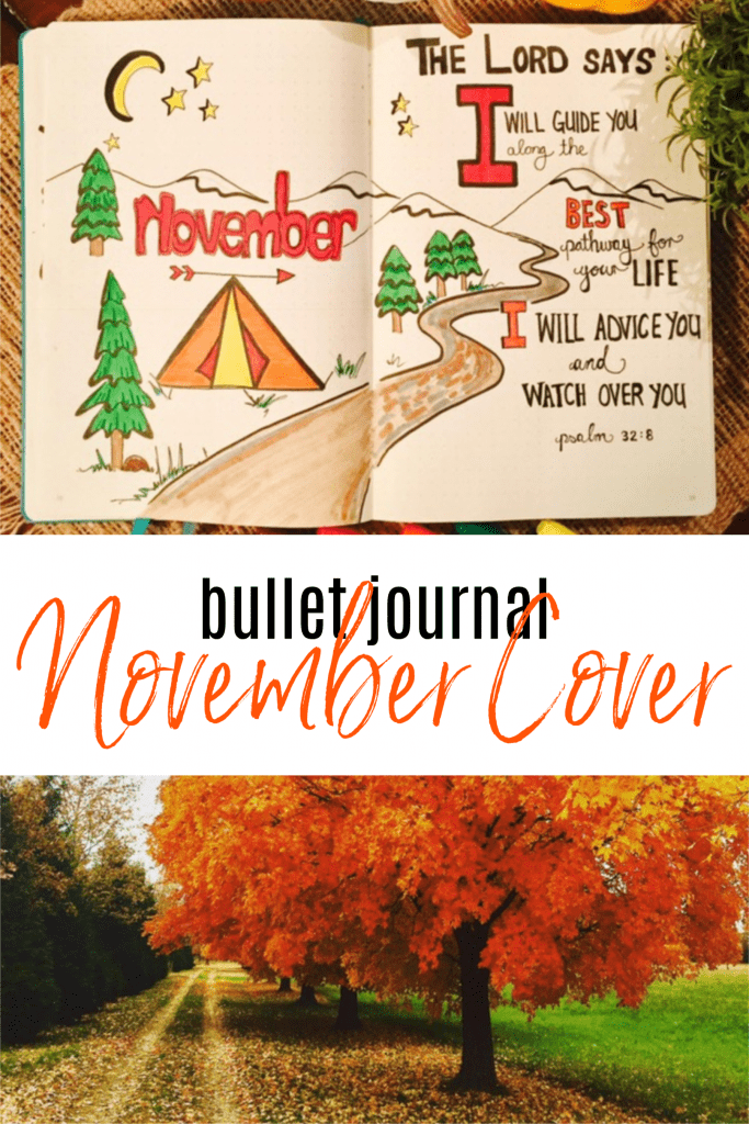 bullet journal november cover idea lists