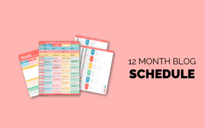 Blog Plan Schedule Template – Monthly Goals to a Full Time Income