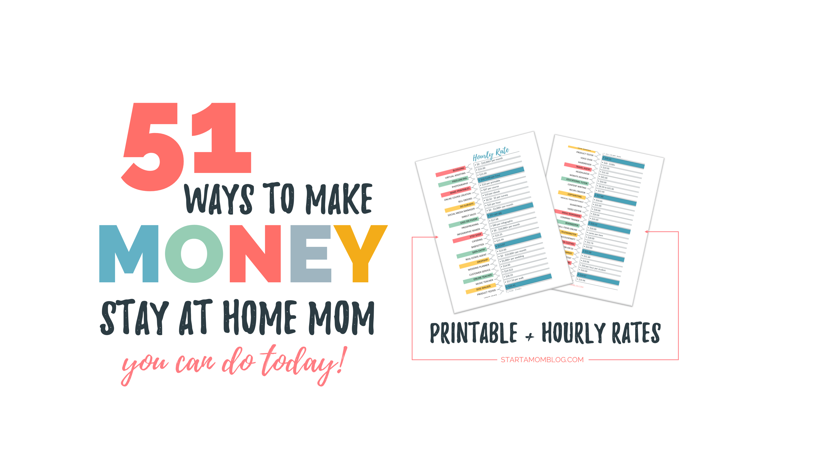 50 Real Ways To Make Money As A Stay At Home Mom Hourly Rates