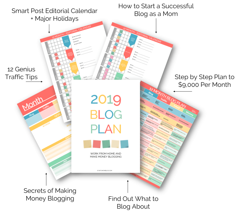 Blog Plan Schedule with Text