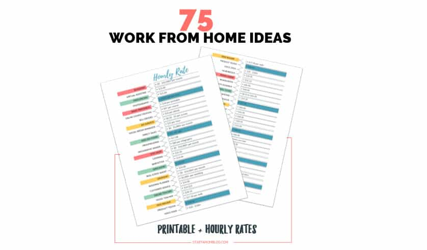 75 Real Ways to Make Money as a Stay at Home Mom + Hourly Rates in 2021