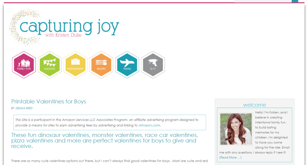 joy example of blog