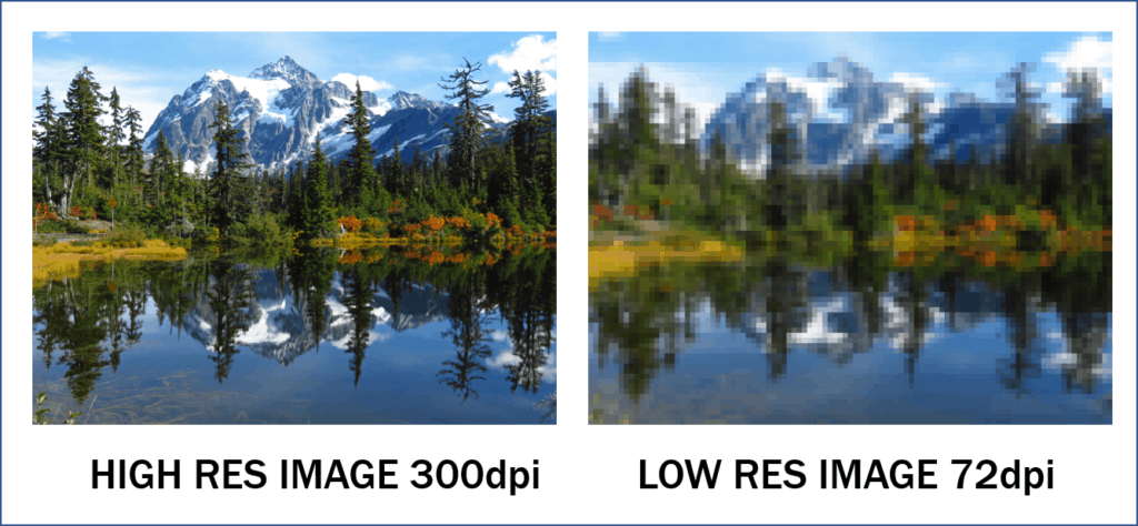 high resolution image vs low resolution image
