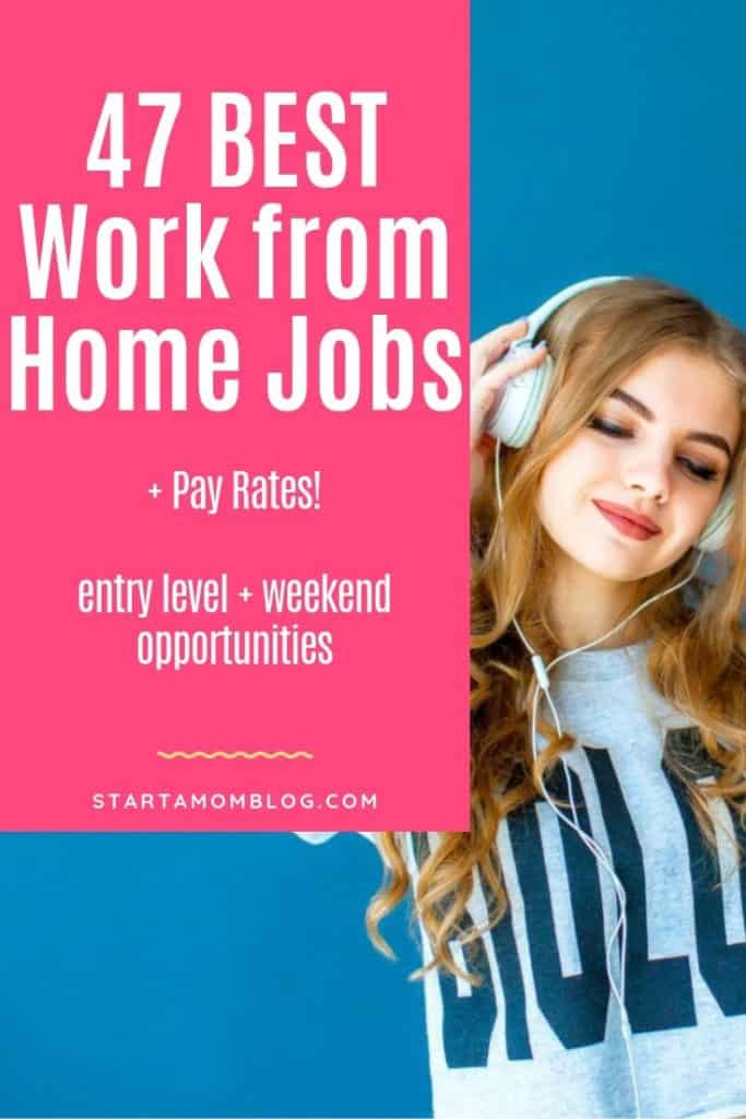 Best Work At Home Jobs 2020.47 Best Work From Home Jobs In 2020 Start A Mom Blog