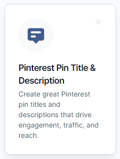 How to wrtie pinterest descriptions with Jarvis